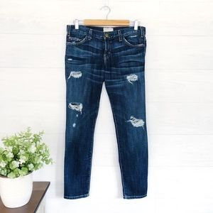 Current/Elliot Crop Skinny Love Destroy Jean 618